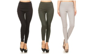 Women's High Waist Pull-On Stretchy Skinny Jeggings (3-Pack)