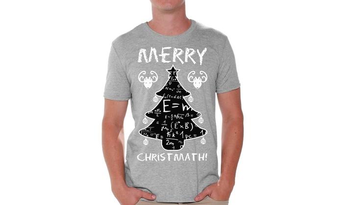 b2679354 Awkward Styles Merry Christmath Tshirt for Men Math Tree Ugly Christmas T  Shirt