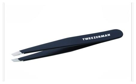 Tweezerman Stainless Steel Slant Tweezer, Black 11d23060-9e20-4fb4-95ca-96a52101f522