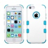 Insten Tuff Hard Hybrid Silicone Cover Case For Iphone 5c White Blue
