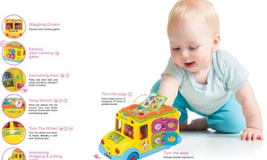 Educational Interactive School Bus Toy with Tons of Flashing Lights by Dimple