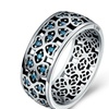 925 Sterling Silver Sweet Clover Blue Ring for Women
