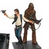 Kotobukiya Star Wars Han Solo and Chewbacca Artfx+ Statue With Display