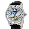 Stuhrling Original Men's Automatic Genuine Leather Strap Watch with GMT