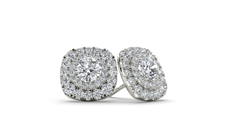 10k Gold 1ct TDW Diamond Square Frame Stud Earrings (H-I, I2) ee59f1b5-399e-43d2-a5d7-29909e49e8dd
