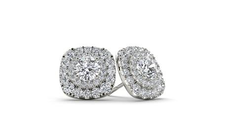 10k Gold 3/4ct TDW Diamond Square Frame Stud Earrings (H-I, I2) 9f1b55cc-22b0-4e85-b437-7dcba8a21eb4