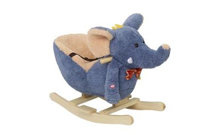 Rocking Horse Baby Little Elephant Riding Rocker with Sound, Seat Belt c6a5c1b8-1bba-493e-a2c4-a67e25443ed4