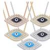 Evil Eye CZ Crystal & Enamel Pendant & Necklace in 925 Sterling Silver
