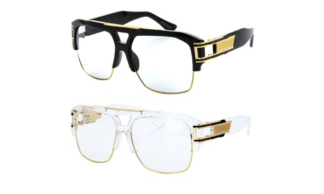 Model 50C UV400 Retro Fashion Thick Frame Glasses (2 OF A SET) 24bd613b-f347-4292-a589-5afeceab986e