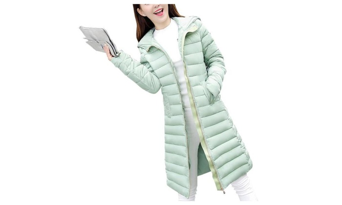 Women's Slim Fit Solid Fashion Windproof Simple Down Coat