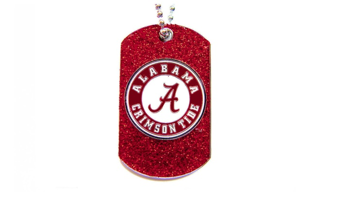 NCAA Glitter Dog Tag Necklace