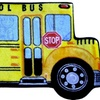 LA Rug FTS-142 3147 Fun Time Shape School Bus High Pile Rug