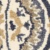 LR Home Dazzle Hand Tufted Geometric Trellis Lattice Gray Blue Wool Indoor Rug