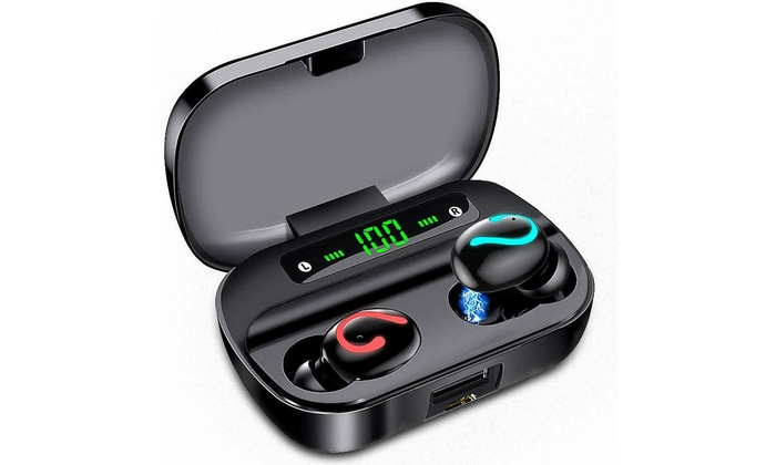Up To 59 Off On Bluetooth 5 0 Headset Tws Wir Groupon Goods