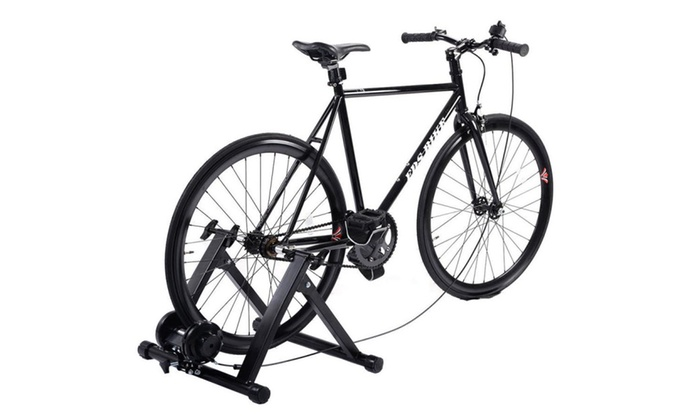 Heavy Duty Folding Indoor Bicycle Bike Trainer Exercise Stand Non-Wire Black