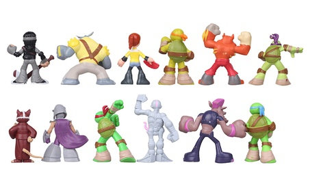 12Pcs Kids Action Figure Toy Classic Teenage Mutant Ninja Turtles 70b6256d-3a93-4613-b169-dbc6d638c472