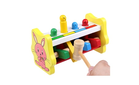 Colorful Wooden Whac A Mole Baby Kids Knocking Game Toy Children Gift 4033ebc0-c22a-4d33-8c53-608efe9de6f2