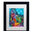 Dean Russo 'Pop Chihuahua' Matted Black Framed Art