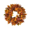 """Nearly Natural Home Decorative 28"""" Harvest Wreath Fall"""