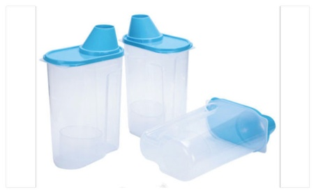 3 Pack Large Cereal Keeper Food Storage Container 23.75 Cup BPA Free 5b5d616f-6fb2-4f11-9884-2871eef79ffc