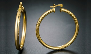 50mm Hoop Earrings in 18K Gold Plating By Euphir