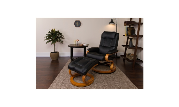 Outstanding Up To 52 Off On Contemporary Leather Recliner Groupon Dailytribune Chair Design For Home Dailytribuneorg