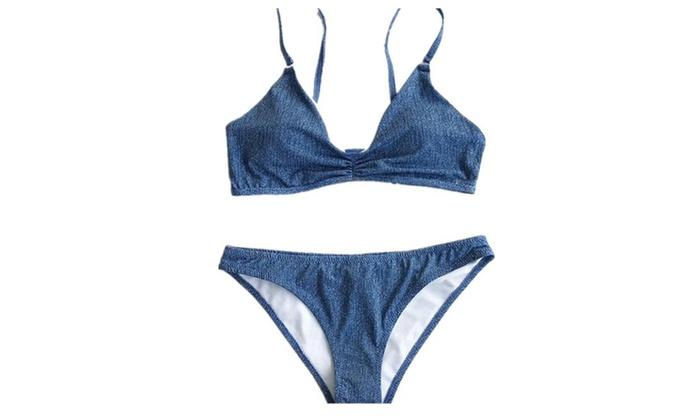 New Adjustable Top Triangle Bikini Set