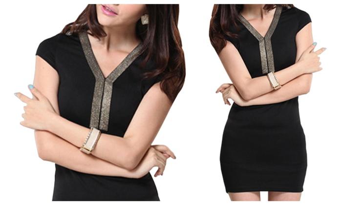 0457c4babcd Womens Short Sleeves Slim Mini Dress - KMWD174 ...