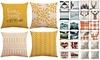 4Pcs/set Home Decorations Cotton Linen Pillow Covers Set (Pillow Not Included)