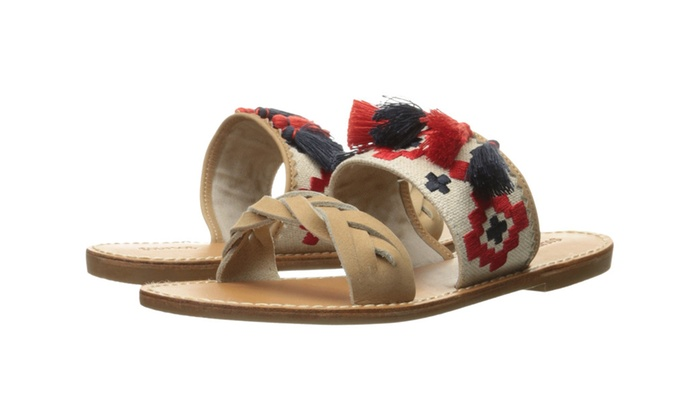 Soludos Women's Embroidered Slide Flat Sandal