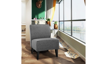 Costway Accent Chair Armless Contemporary Dining Chair Living Room