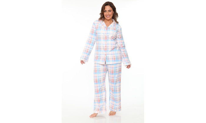 shades of good texture most fashionable Up To 80% Off on Plus-Size Flannel Pajama Set | Groupon Goods