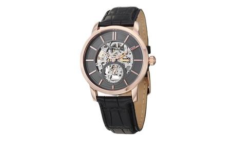 Stuhrling Original Men's Mechanical Skeletonized Genuine Leather Strap Watch ed86acb4-9955-4353-8f12-3cab0d637053
