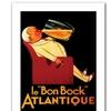'Bon Bock' Canvas Rolled Art