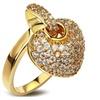 Heart Shape Charm Pendant Design Beautiful Cubic Zircon Stone Ring