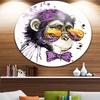 Cool Monkey' Animal Kids Metal Circle Wall Arts