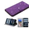 Insten Folio Leather Bling Case W/card Holder For Lg G Stylo Purple