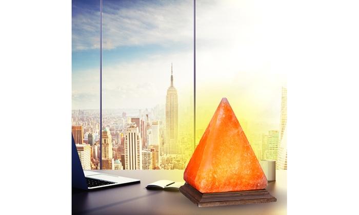 Himalayan Salt Lamp Home Goods : Pyramid Himalayan Salt Desk Lamp for Home and Office Groupon