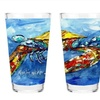 Carolines Treasures MW1170PINT Blue Crab 16 Oz. Mixing Glass