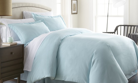 Soft Essentials Premium Double Brushed 3 Piece Duvet Cover Set