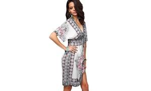 f3da1bc9cc Boho V-Neck Summer Cover-Up Dress (4-Colors)