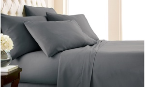 Double-Brushed Microfiber Sheet Set (4-, 6-, or 7-Piece)
