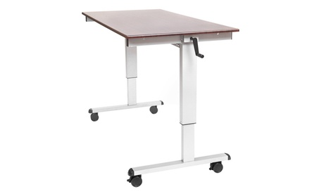 "59""W Crank Adjustable Stand Up Desk f9287426-6eab-4867-a731-653ae46f21e2"