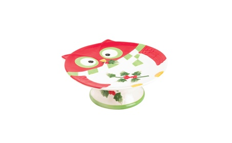 Koehler Home Decor Holiday Hoot Cake Stand 738a0527-e997-4526-9517-0fcd401b4fba