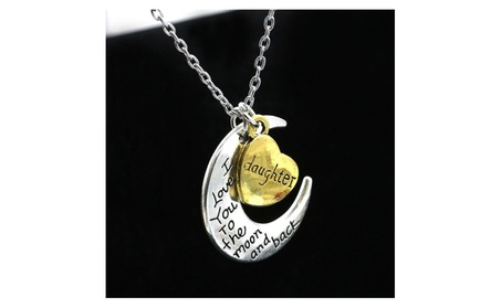 I Love You To The Moon and Back Heart Pendant Necklace Charm 200f5497-c303-4170-97d2-e7e69c7ad809