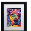 Dean Russo 'American Bulldog 121609' Matted Black Framed Art