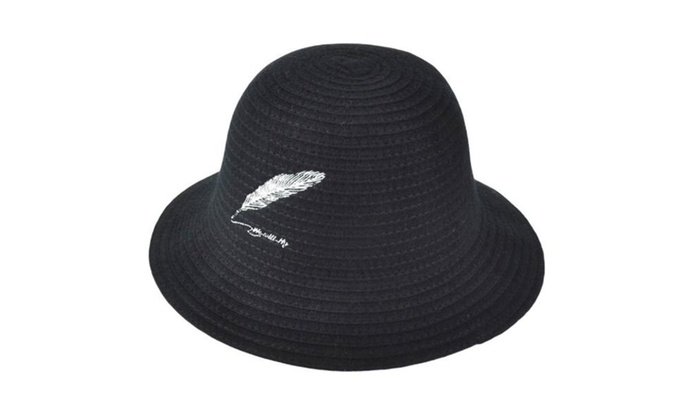 Women's Elastic Closure Floppy Brim Solid Casual Bucket Hat