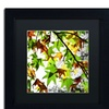 Beata Czyzowska Young 'First Signs' Matted Black Framed Art