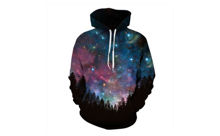 3D Printing Hoodie Lovers Starry sky Long Sleeve Hat Clothes 5081cb07-a375-42d5-a349-d2f846c85588