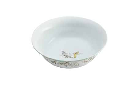 BonJour Dinnerware Fruitful Nectar Porcelain 10 in. Round Serving Bowl